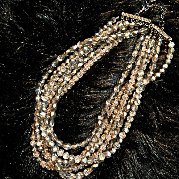 VTG Chico's Crystal Beaded Layered Necklace